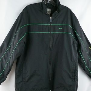 Nike Windbreaker Mens Large Black Stripe Swoosh